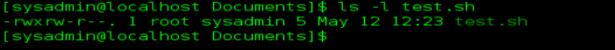 linux ls -l test.sh errorbits.com