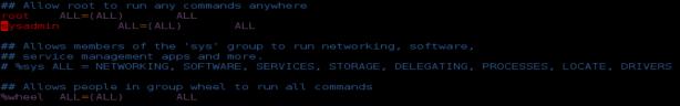linux sudoers vim errorbits.com