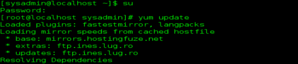 linux yum update command errorbits.com _success